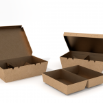Cardboard box flip and insert tray